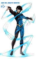 Brett Booth Aqualad/Tempest Concept - Colored by kyomusha