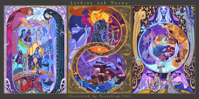 fate of Beren and Luthien by breath-art