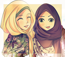Another hijab drawing :D by Jyuosan