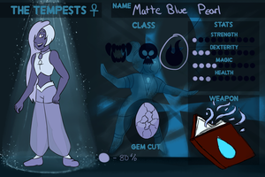 Matte Blue Pearl - Tempests App by StarshineSpirit