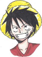 Promarker Experiment: Monkey D. Luffy by BlooDinner