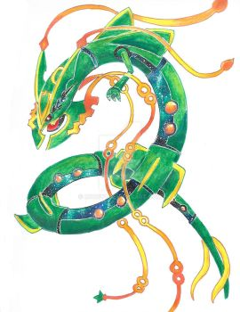 Mega Rayquaza , Dragon of the Galaxies by rooey1