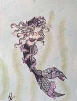 Gothic Mermaid by professor-mooney13