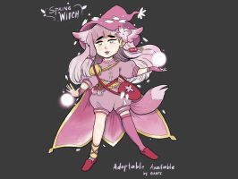 Adoptable: Spring Witch [OPEN] by gabeecm