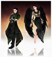 Angel and Loki by SirensReverie