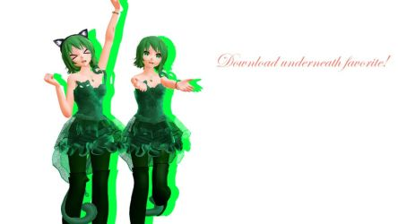 MMD TDA Cat Dress Gumi (DL) by Solastraza
