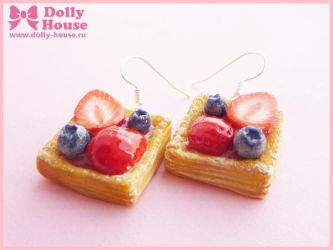 Berry Cakes Earrings by Dolly House by SweetDollyHouse