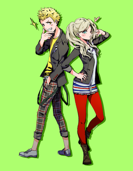 ryuji and ann by BOMHAT
