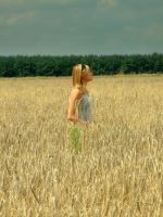 The girl in the field2 by gold-paroles