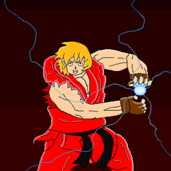 Ken Masters (pixel art) by SuperHyperSonic2000