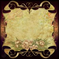 Vintage decor frame background by Lyotta