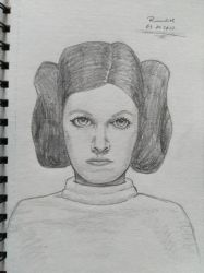 03.07.2017 - Carrie Fisher by Ranadiel