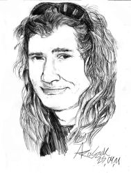 Dave Mustaine sketch: 'Smile' by Shamaanita