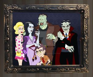 Happy Halloween from the Munsters by BenjaminTDickens