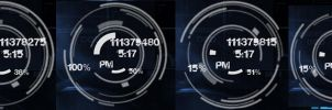 xclock skin rainmeter by Burnwell88