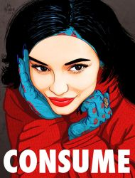 KYLIE JENNER MASK - CONSUME THEY LIVE by HalHefnerART