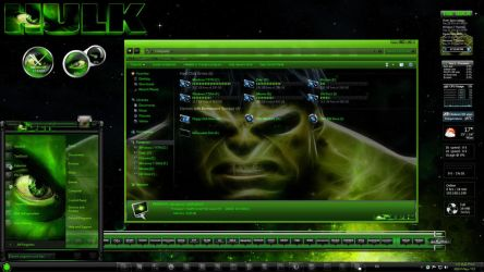 Windows 7 Themes: The Hulk by TheBull1