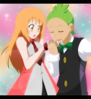 Commission: Topaz and Cilan by annria2002