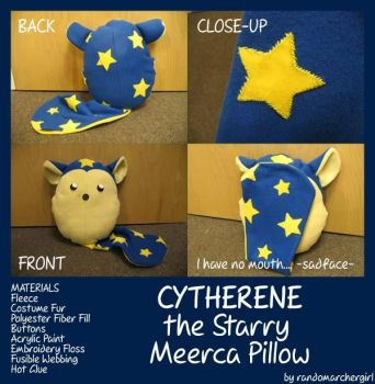 Starry Meerca Pillow by Snippershoo