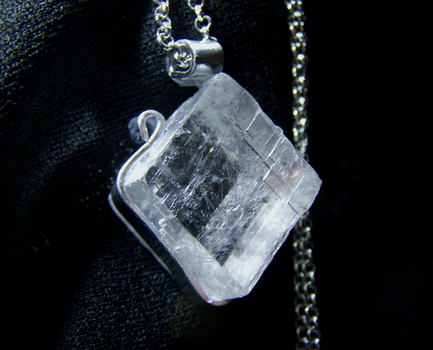 Viking SunStone Optical Calcite Crystal Pendant by mymysticgems