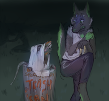 it's trash can not trash cannot by Shiszka