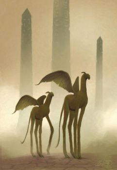 Nephilim Camels by simon buckroyd by Binoched