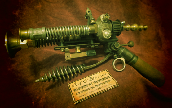 The Airship Pirate's Electrovoltaic Blunderbuss by khvalis