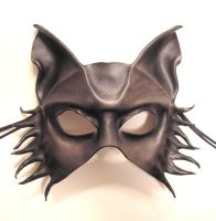 Grey Wolf Leather Mask half face by teonova