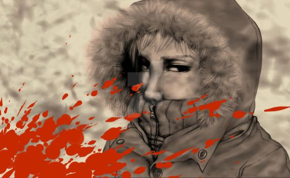 SP Kenny: Blood Stained Parka by sphinx-face