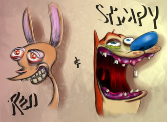 Ren and Stimpy Fanart by Schmodel