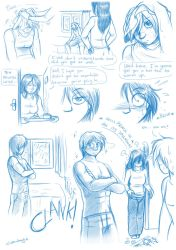 Blame it on the rain - Sketch comic - part1 UPDATE by Raygirl13