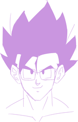 Gohan wearing glasses (sketch) by nobody661