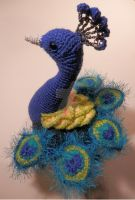 Blue Peacock Amigurumi by AtinaP