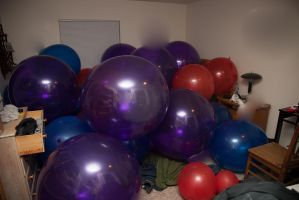 Balloon Room by perchedontheloon