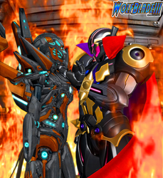 Ultron Sigma and Aria by WOLFBLADE111