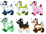 Wolf adoptables OPEN by gameaddict123