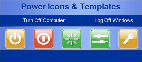 Power Icons and Templates by KenSaunders