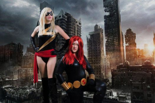 Ms. Marvel and Black Widow by cbombshell