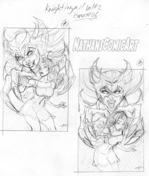 Knightingail Vol 2 COVER #006 layouts A and B by nathanscomicart