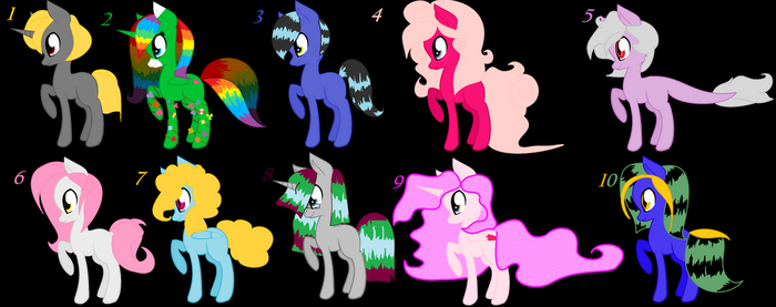 Adoptables 4 by AnimeLovingGirl1209