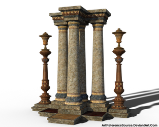 Free Stock PNG:  Decorated Columns by ArtReferenceSource