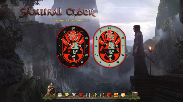 Samurai Clock by kjc66