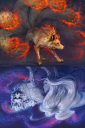Ninetales Mirrored by TamberElla