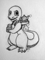 Pokemon cafe #4 Charmander by axemsir