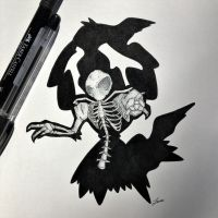 Skeletal Darkrai Updated! by WolfJayden