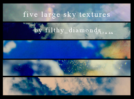 Five large sky textures by filthy-diamonds
