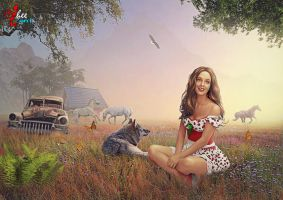 Happy village girl - dheean by dheean