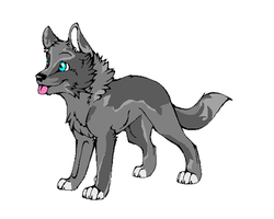Wolf pup Adoptible by Avey-Cee