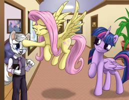 Fluttershy Meets Dr Wolf by Starbat