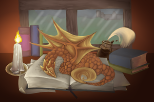 Books are for Napping by Darkforestwarrior